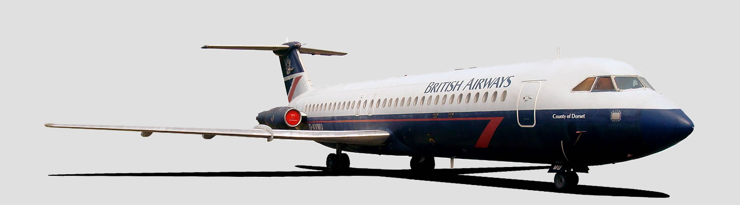 British Aircraft Corporation 1-11 in British Airways livery