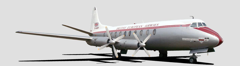 Vickers Viscount 701 in British European Airways livery