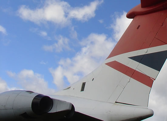 Tailplane and rudder of Vickers VC10